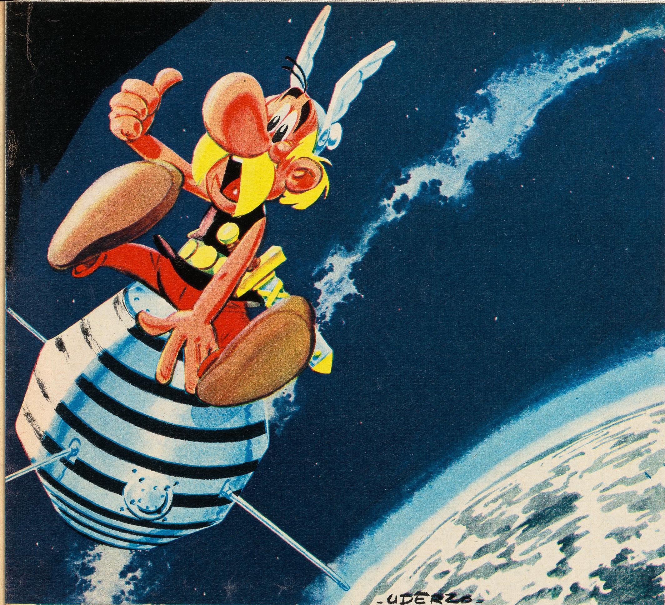 Illustration von Astérix A1 mit der gleichnamigen Comic-Figur, Quelle: CNES