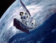 Artist's view of a U.S. Landsat satellite. Credits: NASA.