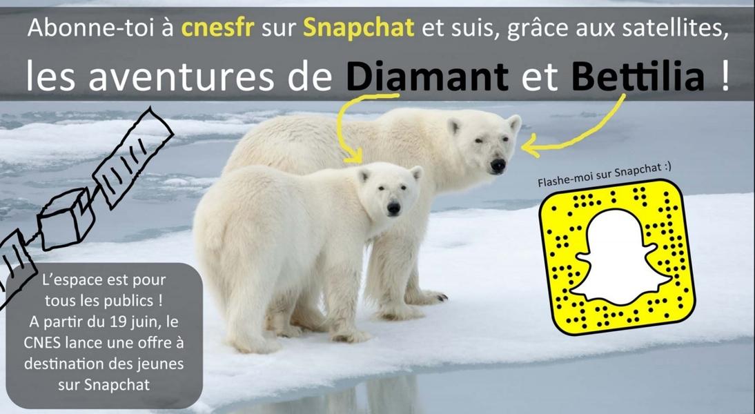 Abonnez-vous au compte SnapChat du CNES !