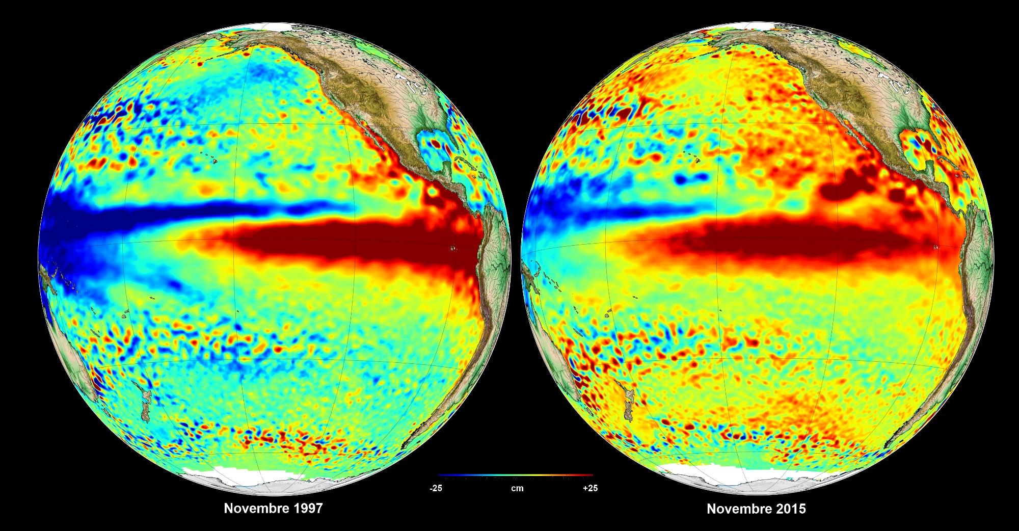 Cnes El Ni 241 O Satellites See Red