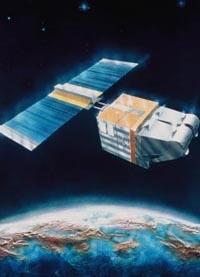 Vue d'artiste du satellite Spot 1 au-dessus de la terre. © CNES