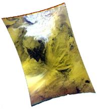 Une des premières images prises par Parasol (composition colorée). Crédits : CNES