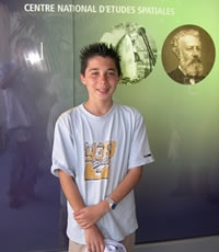 Pierre Feuillafée, 14 ans (Tourcoing, France), the 3,000th visitor on 19th June. crédits CNES