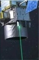 Le satellite Calipso et son lidar ; crédits CNES/P.Carril