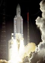 Lancement de SMART-1 à bord d'Ariane 5 (vol 162). Crédits : CNES