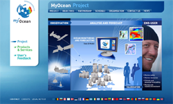 Site Internet de MyOcean. Crédits : MyOcean.