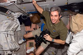 L'astronaute français de l'ESA Léopold Eyharts. Crédits : NASA