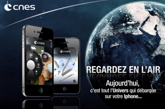 téléchargez l'application Iphone du CNES