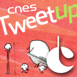 Portez le twibbon du CNES ! Illustration : Marc Edelmann