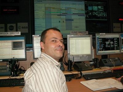 Marcial Vanhove, Directeur de vol du CNES à l'ATV-CC. Crédits : ESA