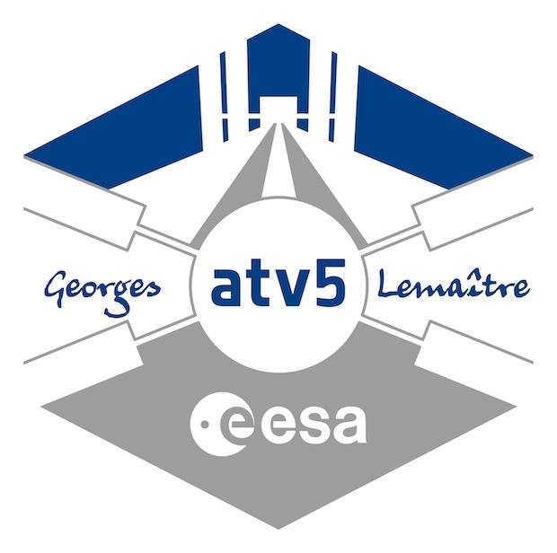 Logo de l'ATV-5. Crédits : ESA.