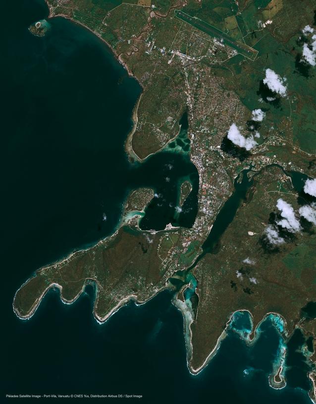 Port Vila, capitale des Vunuatu, vu par les Pléaides