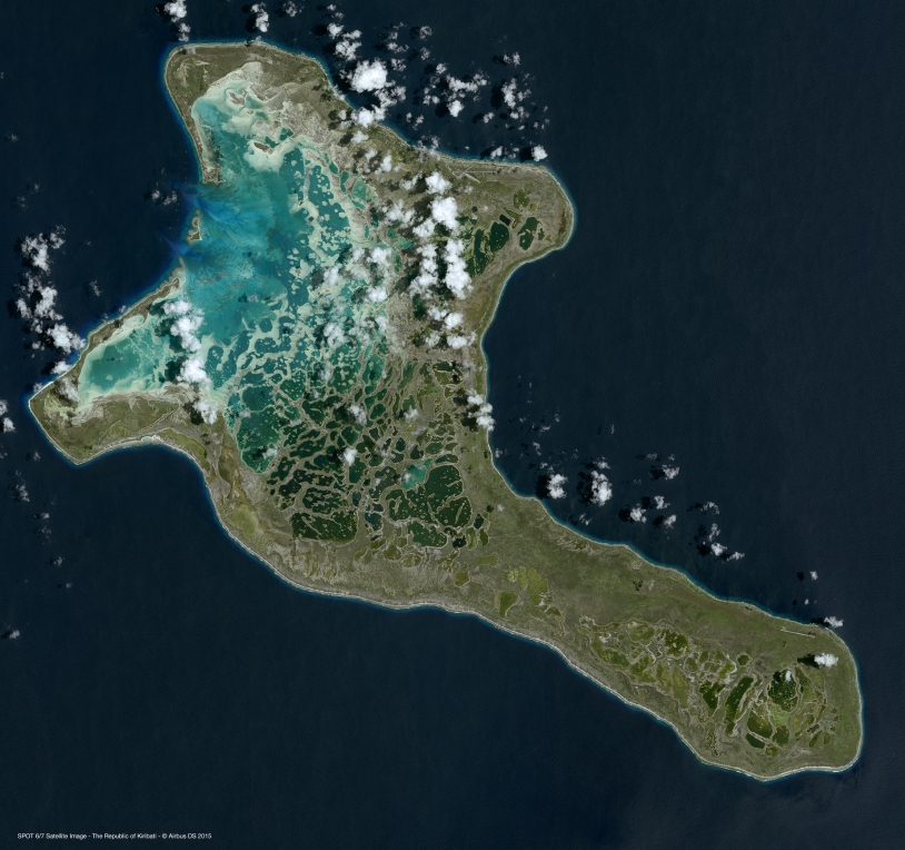 Ile des Kiribati vue par SPOT6/7
