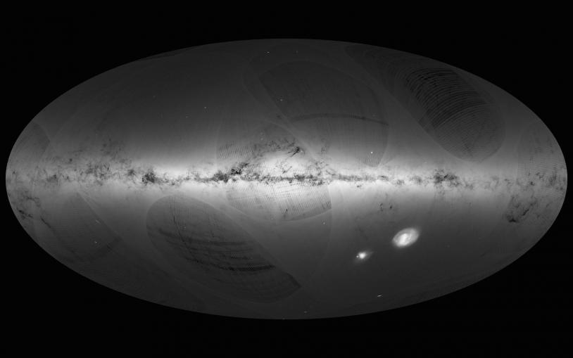 1ere vue de la Voie Lactée, avec les positions précises d'un milliard d'étoiles grâce au satellite Gaia
