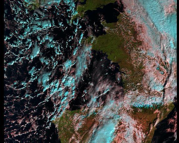 Image Sentinel 3A de la France issue de la plateforme Peps