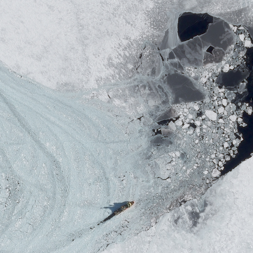 La base Antarctique McMurdo vue par Pléiades (zoom)