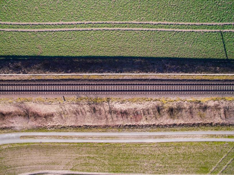 Rail vue aérienne