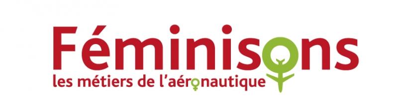 Logo Féminisons les métiers de l'aéronautique
