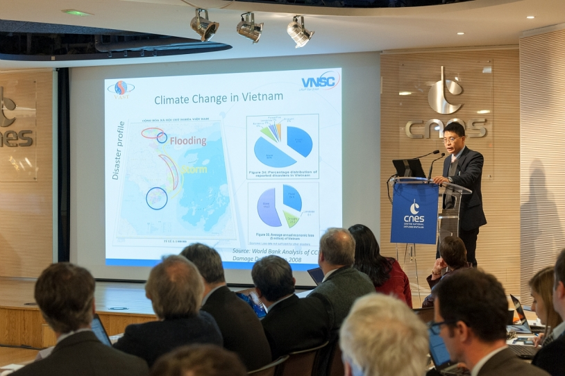 Première réunion internationale du SCO au siège du CNES le 1er février 2019.