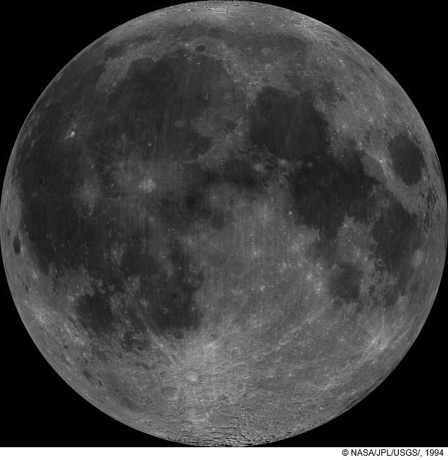 La Lune vue par la sonde Clementine.