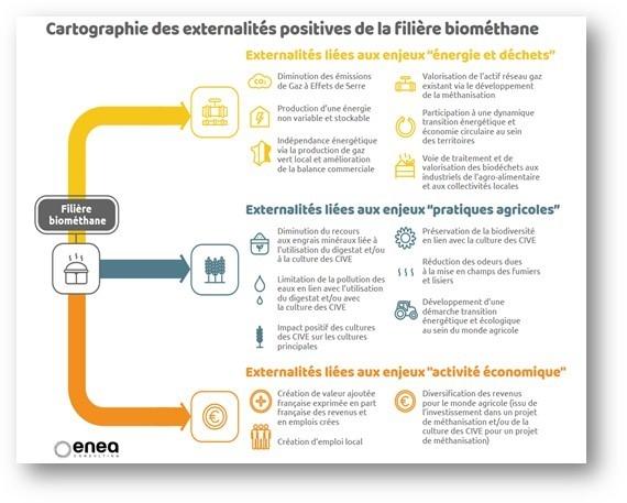 Externalité positives de la filière biométhane.