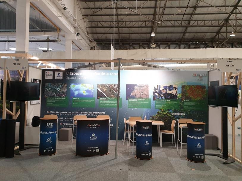 UICN 2021 à Marseille - Le stand du CNES
