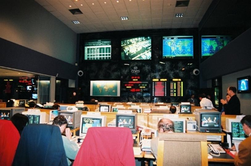 Salle de contrôle CNES SCP1 ; crédits CNES/E.Grimault