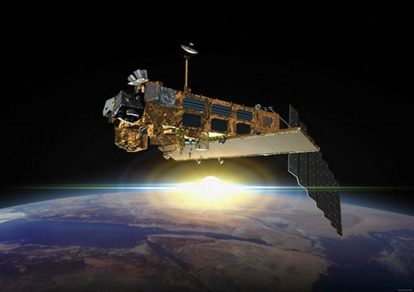 Europe's Envisat environmental monitoring satellite ; credits ESA / Denman productions