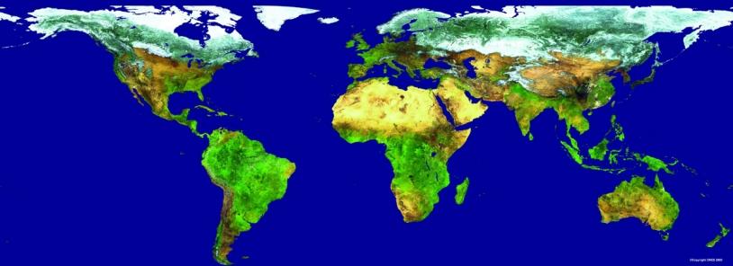 Le couvert végétal vu par l'instrument Végétation ; crédits CNES