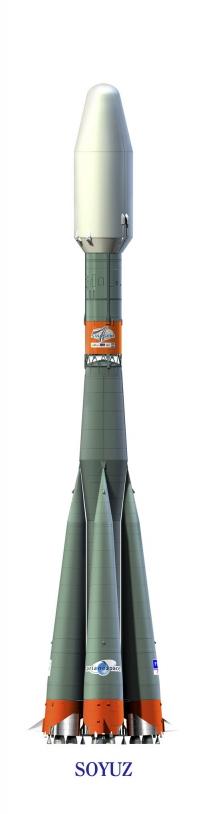 Le lanceur russe Soyouz ; crédits Esa
