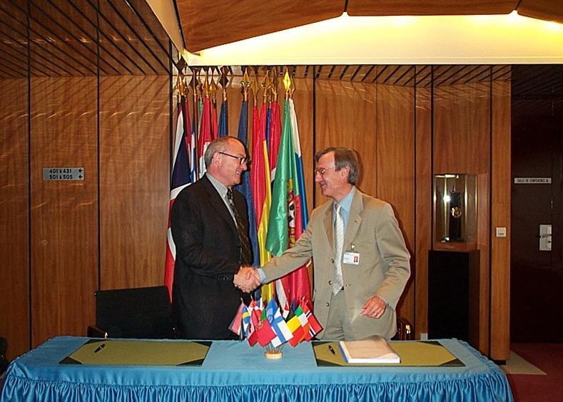 J-J.Dordain et Y.d'Escatha ; crédits Esa