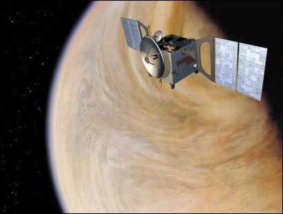 Vue d'artiste de Venus Express ; crédits Esa