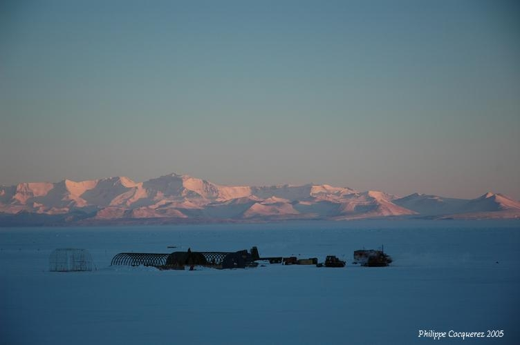 The McMurdo research station ; credits CNES/Ph. Cocquerez