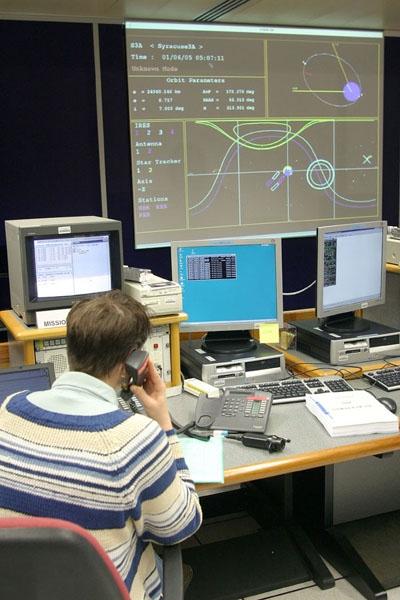 Salle de contrôle ; crédits CNES/P.Jalby