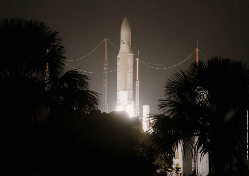 Décollage d'Ariane 5 GS le 13 octobre dernier ; crédits CNES/Esa/Arianespace/CSG Service Optique