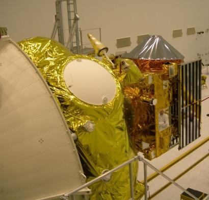 La sonde Venus Express et l'étage Fregat du lanceur ; crédits Esa/Starsem