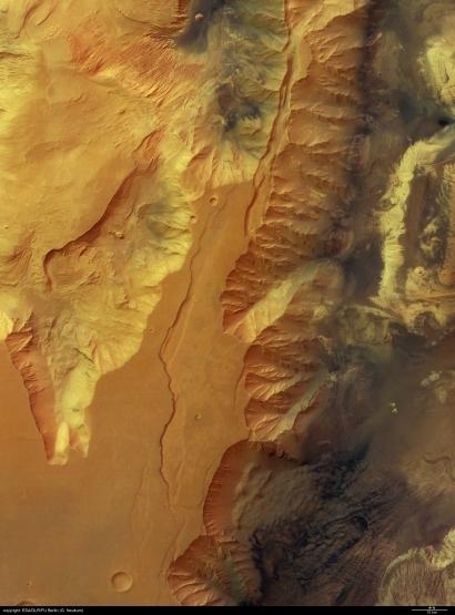 Mars landscape ; credits Esa/DLR/FU Berlin