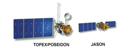Topex/Poseidon et son successeur.