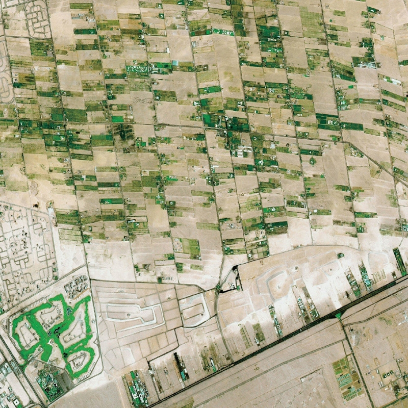 Crops in Egypt. Credits: CNES/Distribution Spot Image