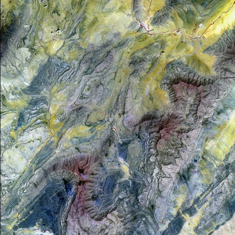 l'Algérie vue par Spot 5. Crédits : CNES/Distribution Spot Image/2002