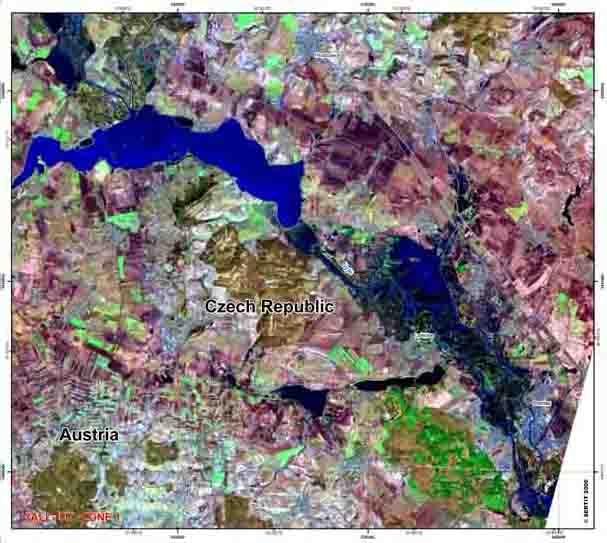 Les inondations en République tchèque vue par Spot 5 ; crédits Spotimage