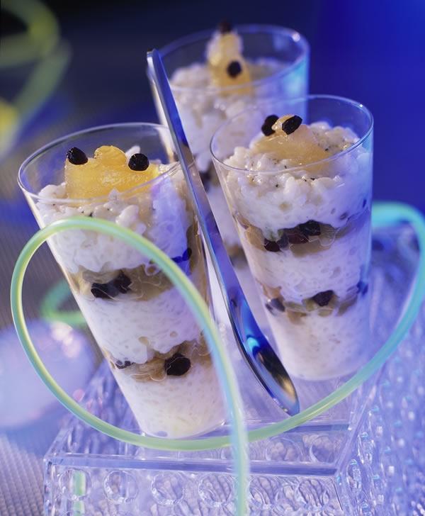 Dessert préparé par ADF. Rice pudding aux fruits confits. Crédits : Pierre Desgrieux