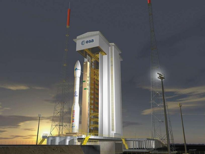 Vue d'artiste du lanceur Véga ; crédits : ESA/Jacky Huart