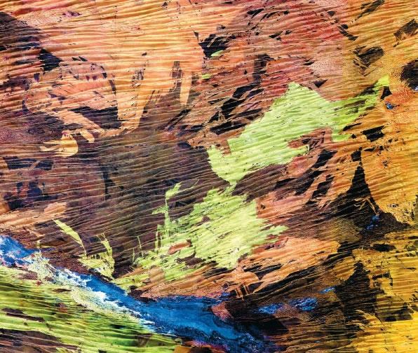 Patchwork de couleurs. Le Grand Désert de Sable en Australie observé par le satellite Spot en  mars 1986. Crédits : CNES/Distribution Spot Image