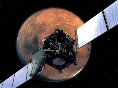Survol de Mars par la sonde Rosetta. Crédits : ESA/Medialab