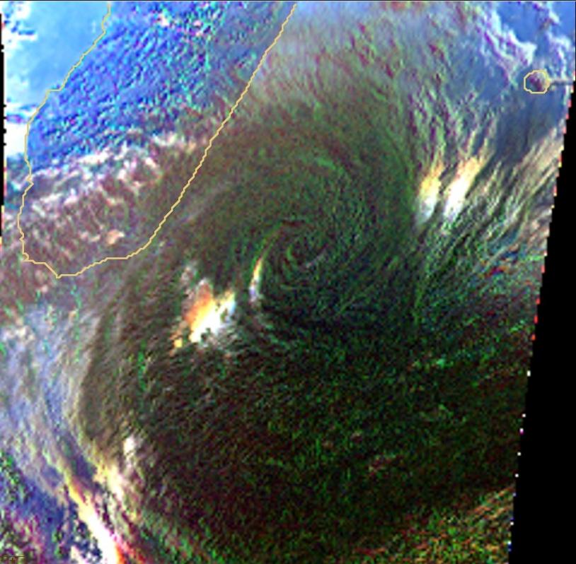 Vue de Gamède par Parasol en lumière polarisée. Crédits : CNES