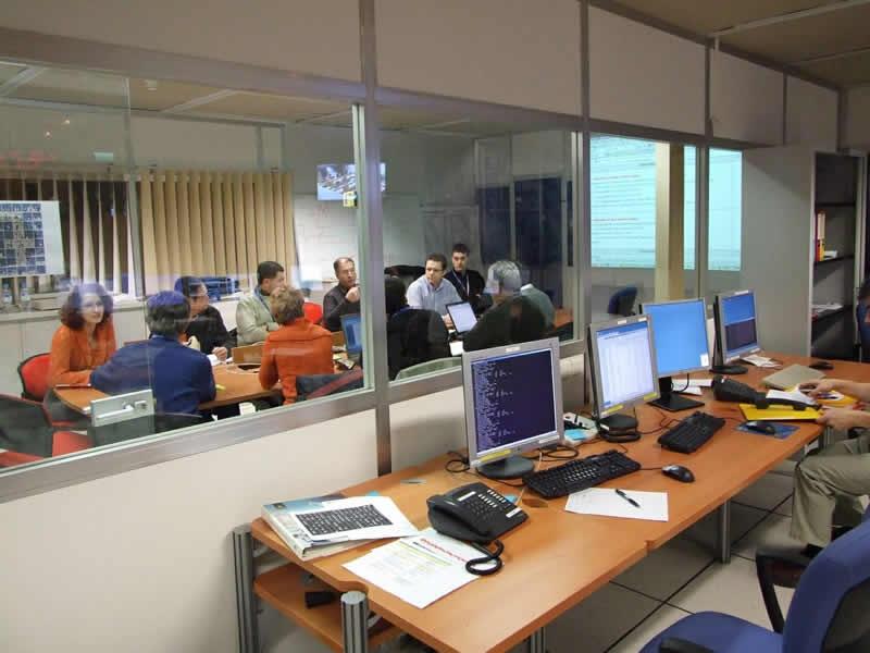 Salle du centre de mission scientifique dédiée à Corot. Crédits : CNES/D. Jamet