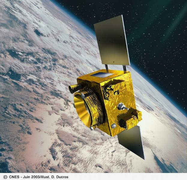 Artist's view of the Microscope satellite. Credits : CNES/Ill. D. Ducors