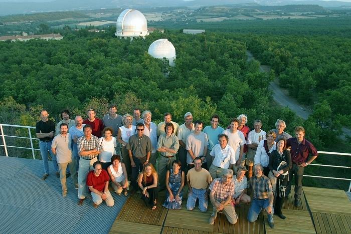 L'équipe Corot lors d'un Séminaire à l'Observatoire de Haute Provence. Crédits : CNES/Laurent Kerjean