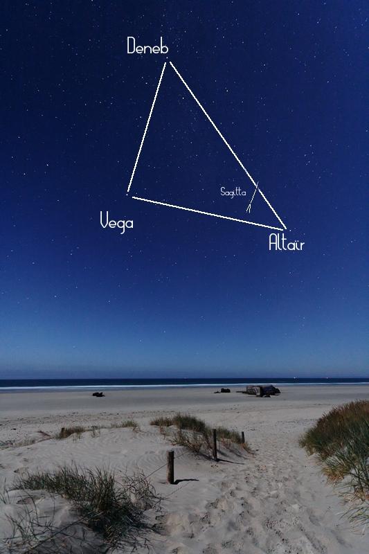 The Summer Triangle. Credits : L. Laveder - www.PixHeaven.net
